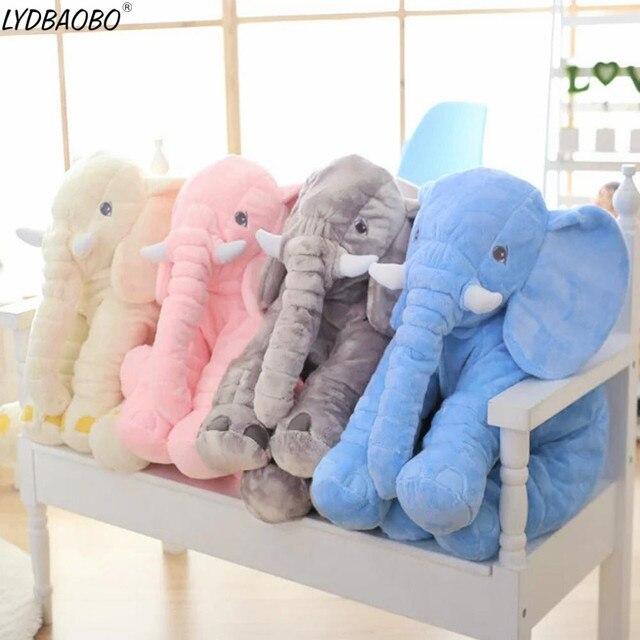 1pc 60cm Cartoon 60cm Large Plush Elephant Toy Kid Sleeping Back Cushion Stuffed Pillow Elephant Dolls Baby Dolls Birthday Gifts
