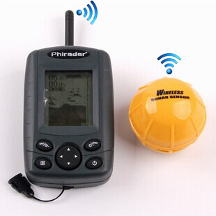 Wireless Sonar Fish Finder Fishfinder Alarm 35M/120 FT Depth Portable display 2.8""