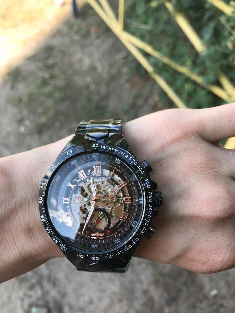 Winner New Number Sport Design Bezel Golden Watch Mens Watches Top Brand Luxury Montre Homme Clock Men Automatic Skeleton Watch 23