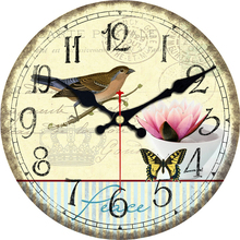 Natural Scenery Wall Clocks Birds Magpie Design Fashion Silent Living Study Office Kitchen Home Decor Art