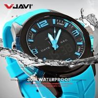 JAVI Men's sports electronic watch Digital Wristwatches rotating light 30 m waterproof relojes para hombre Gift relogio erkek
