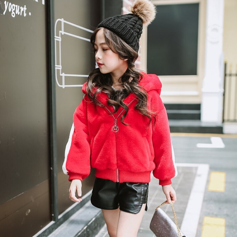 Girls Sweater Coat 3 4 5 6 7 8 9 Years Winter Warm Toddler Jackets Baby Girls Clothes Children Clothing Little Girl Hooded Coats