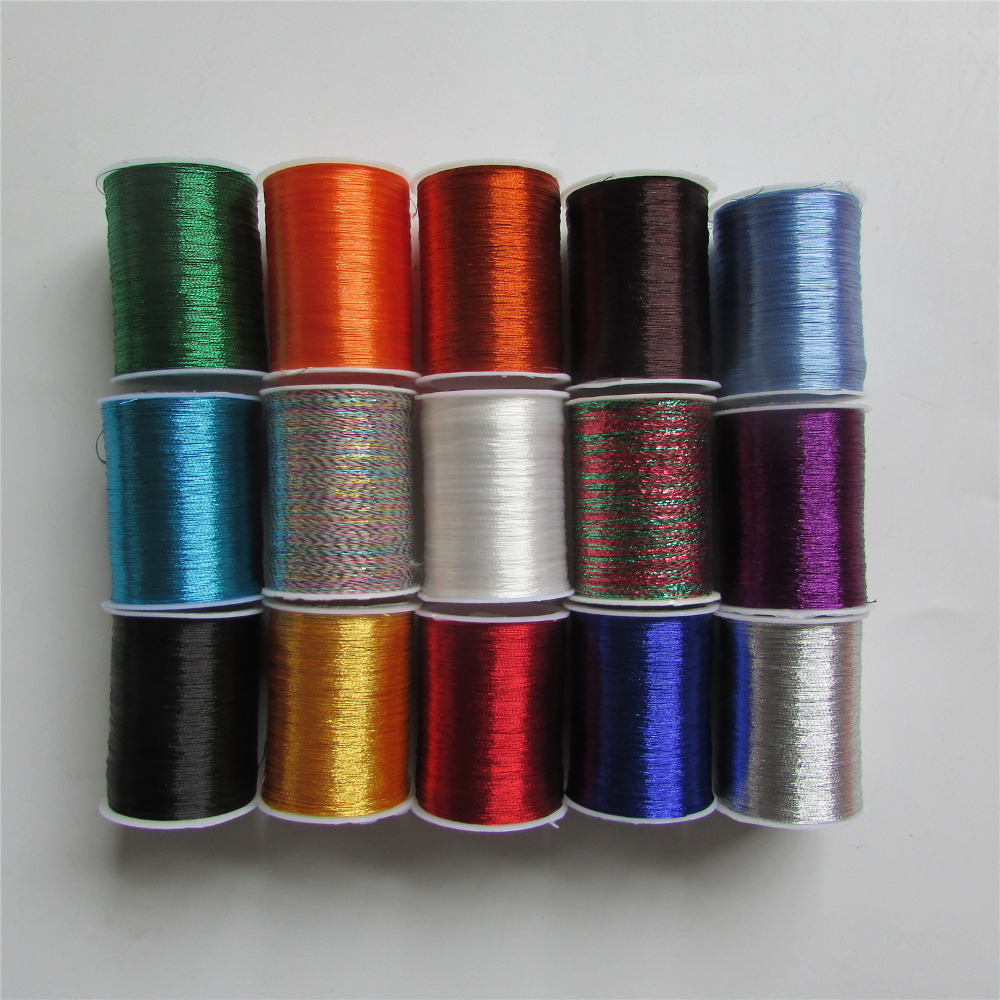 14 Kind Of Colour Select Metal Embroidery Thread Sewing Machine Thread DIY Clothing Pillowslip Bed Sheet 1pcs Sell