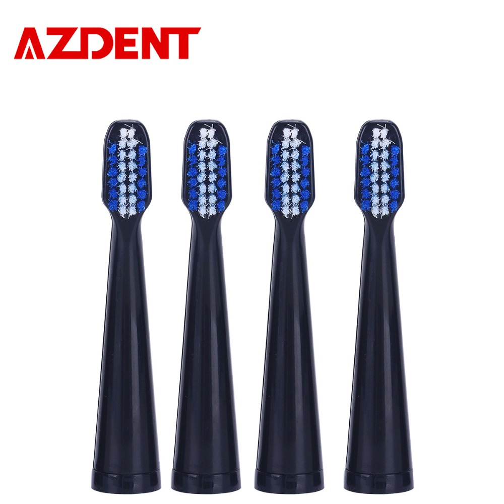 AZDENT Brand New 4pcs/set Toothbrush Head Electric Toothbrush Replacement Heads Fit AZ-06 or AZ-1 Pro Tooth Brush Oral Hygiene 8pcs replacement toothbrush heads for azdent ye02 az 2 pro electric toothbrush oral hygiene b cross floss teeth tooth brushes