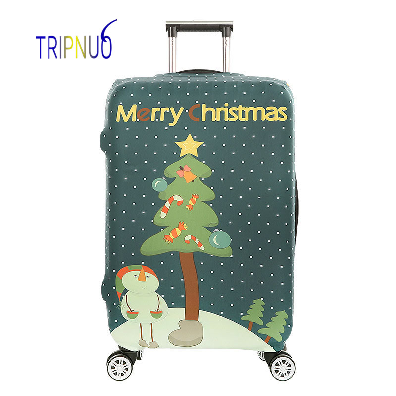 TRIPNUO Christmas Tree Thickest Elastic Luggage Cover Zipper Suit For 18-32 inch Trunk Case Travel Suitcase Protective Covers цена