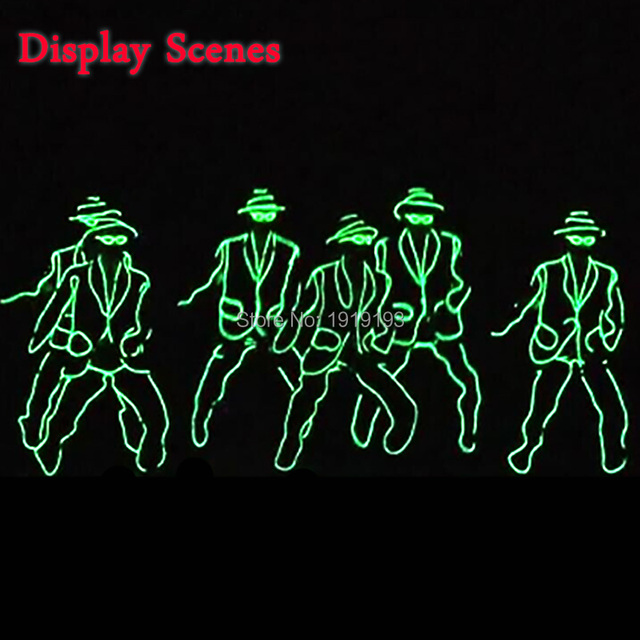 Hot sales 10 Color Select DIY LED suits EL wire glowing costume ...