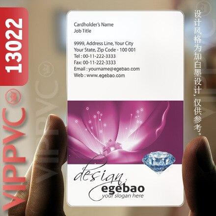 13022 16pt business cards  - matte faces transparent card thin 0.36mm