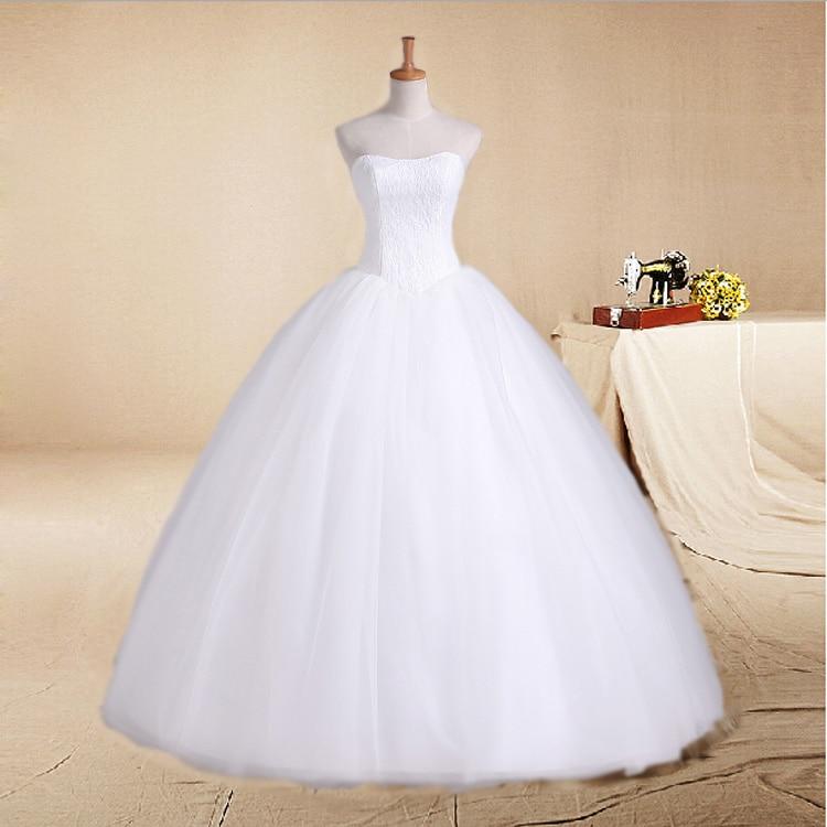 LAMYA свадебное платье со шлейфом дешевые знаменитостей без бретелек Винтаж Тюль Свадебное бальное платье органза кружева свадебные платья - Цвет: Floor-Length