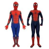 Far From Home Spiderman Cosplay Costume Zentai Spider Man Kids Adult Superhero Bodysuit Jumpsuit Spandex Suit