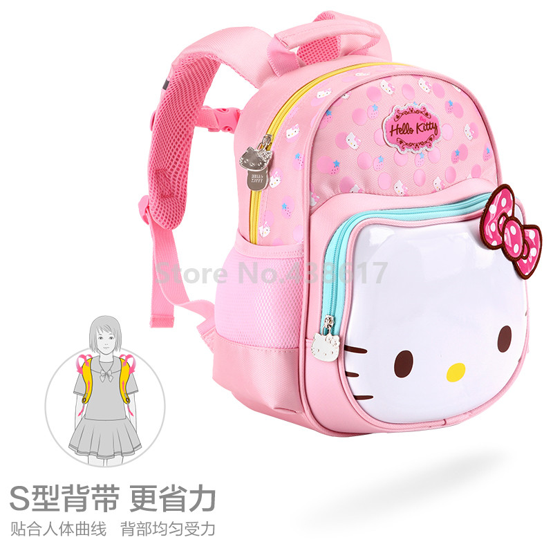 Cute Sweet Pink Purple Rose Hello Kitty Backpack School Bags for Children  Girls Kids Kindergarten Preschool School Toddler Bag-in School Bags from  Luggage ... 3f3a11f79c472