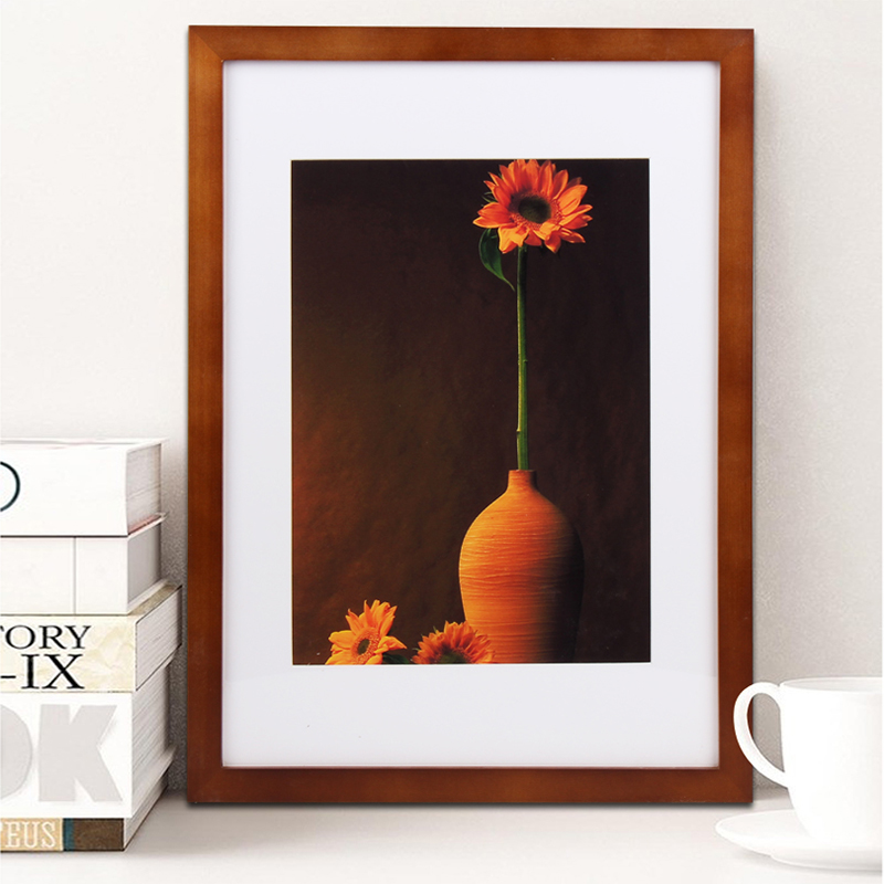 4x6 inch European table setting real wood frame picture frame ...