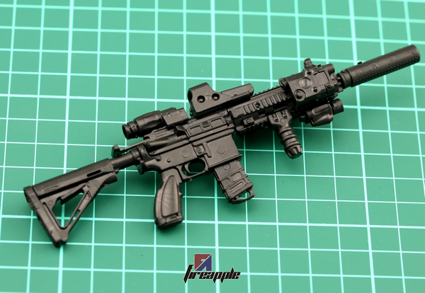 HK416 Automatic Rifle 1/6 Black Assembling Weapon For 12