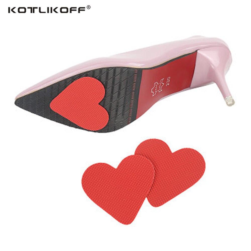KOTLIKOFF 8 Pairs Anti-Slip Pad Shoes Heel Sole Protector Pads Self-Adhesive Non-Slip Cushion Adhesive High Shoes Accessories стоимость