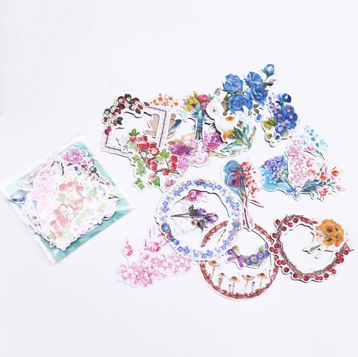 S3 Forest Flowers Decoration Bouquet Garland Stickers Adhesive Stickers DIY Decoration Stickers alive for all the things are nice stickers adhesive stickers diy decoration stickers