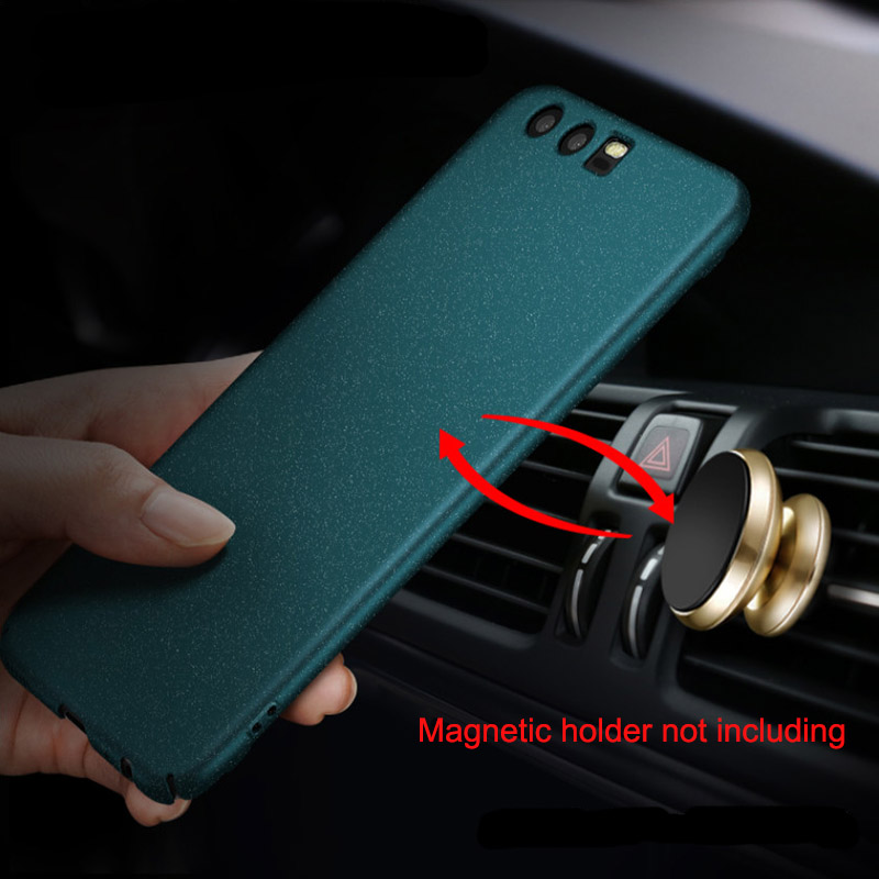 For Huawei P10 Matte Case Original AIXUAN Full Protective Car Holder Magnetic Cover For Huawei P10 Plus with metal plate