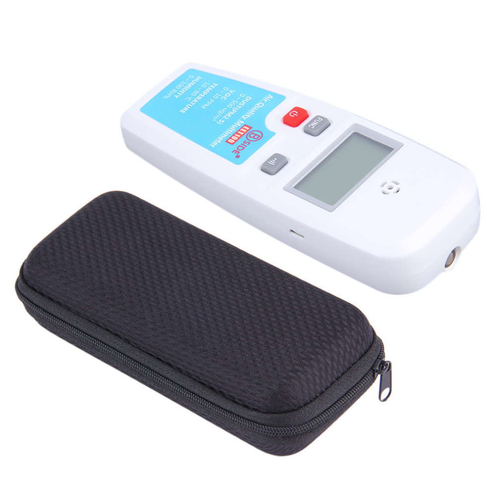 BSIDE EET100 LCD Air Quality Multimeter Dust VOC Temperature Humidity Meter Atmosphere Environment Detector Air Analyzer digital indoor air quality carbon dioxide meter temperature rh humidity twa stel display 99 points made in taiwan co2 monitor