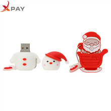 Usb Flash Drive 2.0 32GB Pen Cartoon 128GB Santa Claus Pendrive 4GB 8GB 16GB flash drive Best Christmas memoria usb
