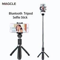 Magcleワイヤレスbluetooth selfieスティックミニ三脚拡張可能一脚ユニバーサルiphone用8 × 7 6 sプラスサムスンドロップ船