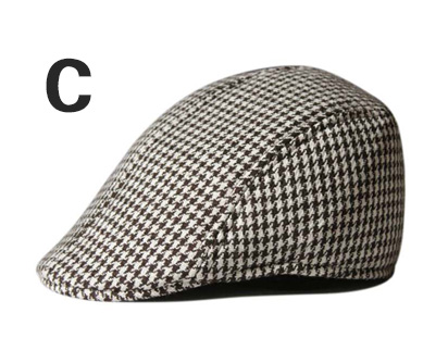 Английский стиль, однотонные весенне-зимние шапки для мужчин и женщин, модные уличные унисекс пляжные солнцезащитные шапки, новые повседневные мужские береты - Цвет: C