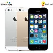 Fabrika Unlocked orijinal Apple iPhone 5s parmak izi ile IOS OS 4.0 inç ekranlı cep telefonu dokunmatik kimlik iCloud App mağaza