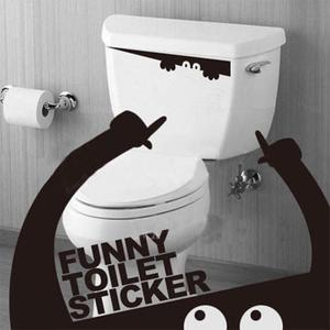 3D Wall Sticker Toilet Stickers Hole View Vivid Monster Bathroom Home Decoration Animal Vinyl Decals Art Sticker Wall Poster(China)