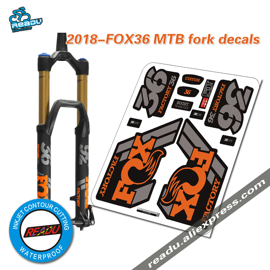 2018 Fox Factory 36 32 Mountain Bike Fork Stickers MTB Speed Down DH MTB Road Bicycle Latest Waterproof Front Fork Decals Films
