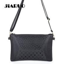 JIARUO Vintage Retro Hollow Out Flower Envelope Bag Small Slim Women Leather Messenger bag Crossbody Shoulder bag Handbag Purses