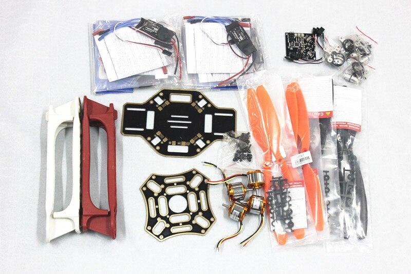 450F Nylon Fiber Frame Airframe +KK XCOPTER V2.9 Circuit Board+1000KV Motor+30A ESC+1045 Propeller F02192-C emax upper airframe board