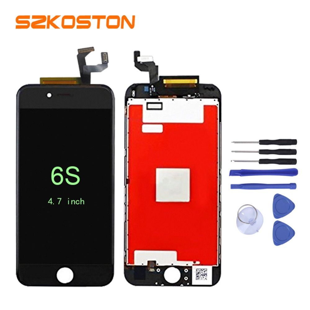 5PCS/LOT No Dead Pixel LCD For Apple iPhone 6S LCD Display With Touch Screen Digitizer Assembly Free Shipping+ Complete kit reatil packaging 1pcs lot for huawei g7 no dead pixel lcd display with touch screen digitizer assembly replacement free shipping