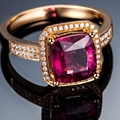 Luxury Square Cut 1.5ct   Gold Filled Engagement Womens Ring Size 5,6,7,8,9