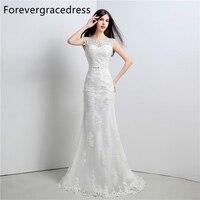 Forevergracedress Elegant Long Wedding Dress Mermaid Sweetheart Applique Lace Up Back Bridal Gown Plus Size Custom