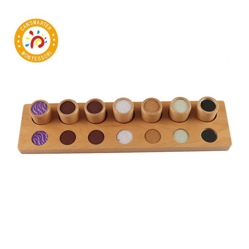 Montessori bébé jouet divers Styles toucher rugueux et lisse cylindre éducation de la petite enfance préscolaire