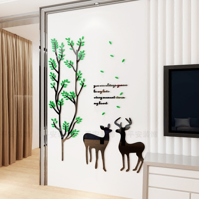 wall sticker self adhesive living dining room background decoration creative moose wall decor nightmare before