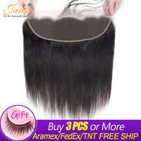 Jarin 13x4 Kant Frontale Braziliaanse Human Hair Gratis Deel Oor Tot Oor Natuurlijke Haarlijn Met Baby Haar Zwart kleur Kopen 3 Schip Door DHL
