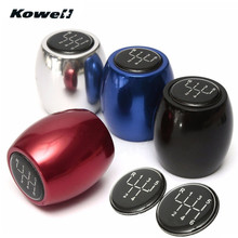 KOWELL 5&6-Speed Universal MT Manual Transmission Gear Shift Knob for Volkswagen VW Golf for Lada for KIA Black,Silver,Red,Blue