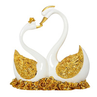 Classic Swan Figurine Decoration Figurines Exquisite Fairy Garden Animals Statue Miniature Home Desk Ornaments Resin Crafts
