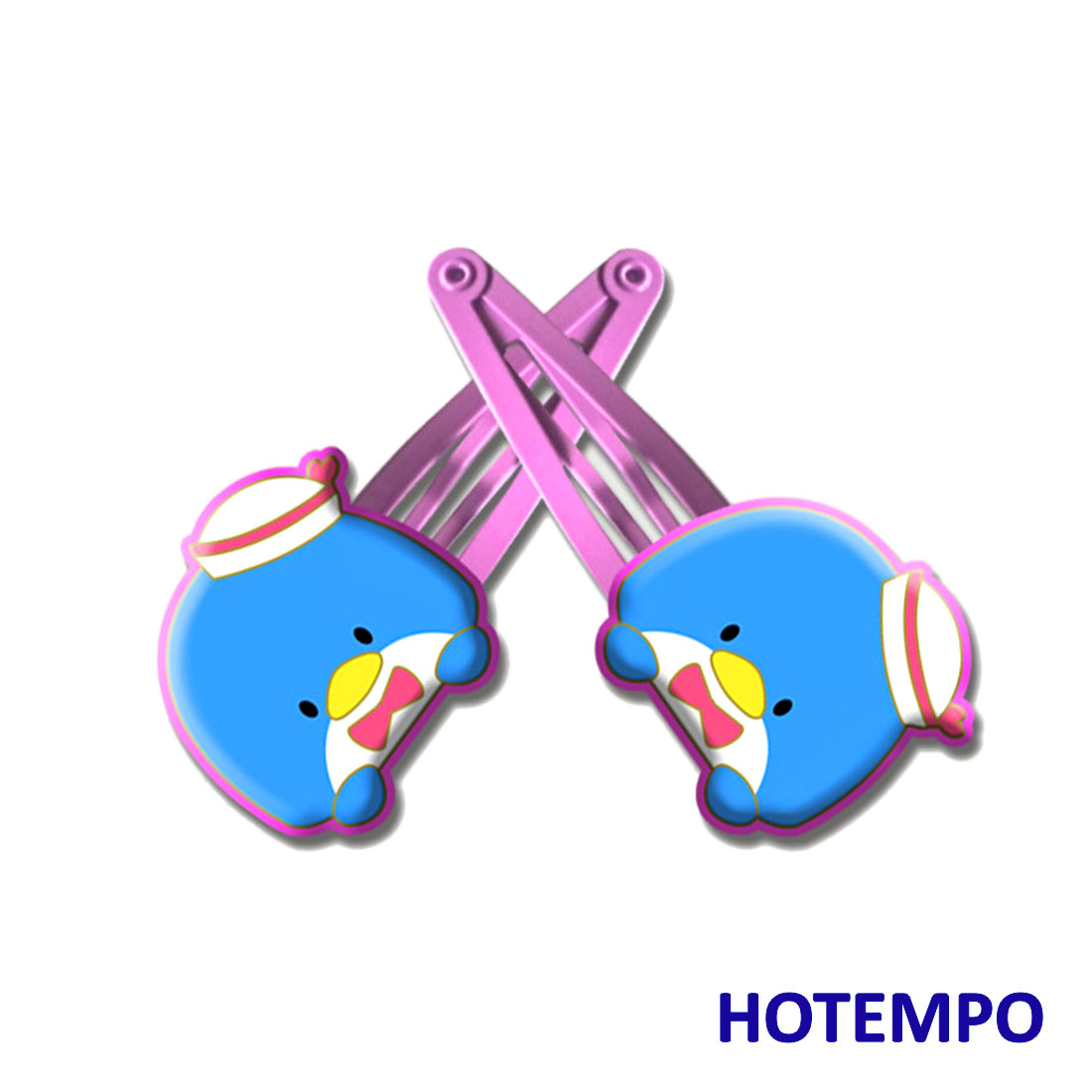 Cute Cartoon TuxedoSam Childhood Baby Girl Hair Accessories Kawaii Penguin Hairpins Elastic HairBands Hair Clip For Kids Gift
