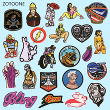 ZOTOONE Sexy Patch for Clothing Iron on Embroidered Sewing Applique Cute Sew Fabric Badge DIY Patches Apparel Accessories G
