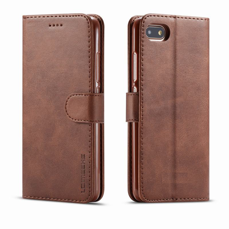 Case For iphone 5S 5 SE Cover Case Retro Wallet Luxury Magnetic Flip Business Plain Leather Phone Bag For Apple iphone 5 S Coque
