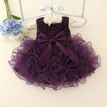 Newborn Baby Girls Dresses Beads Bow Kids Christening Gowns 0-2 Years Birthday Dress Vestido Infantil Princess Outfits