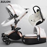 Aulon детская коляска эко кожа высакое качество фирменный товар доставка в россию бесплатно