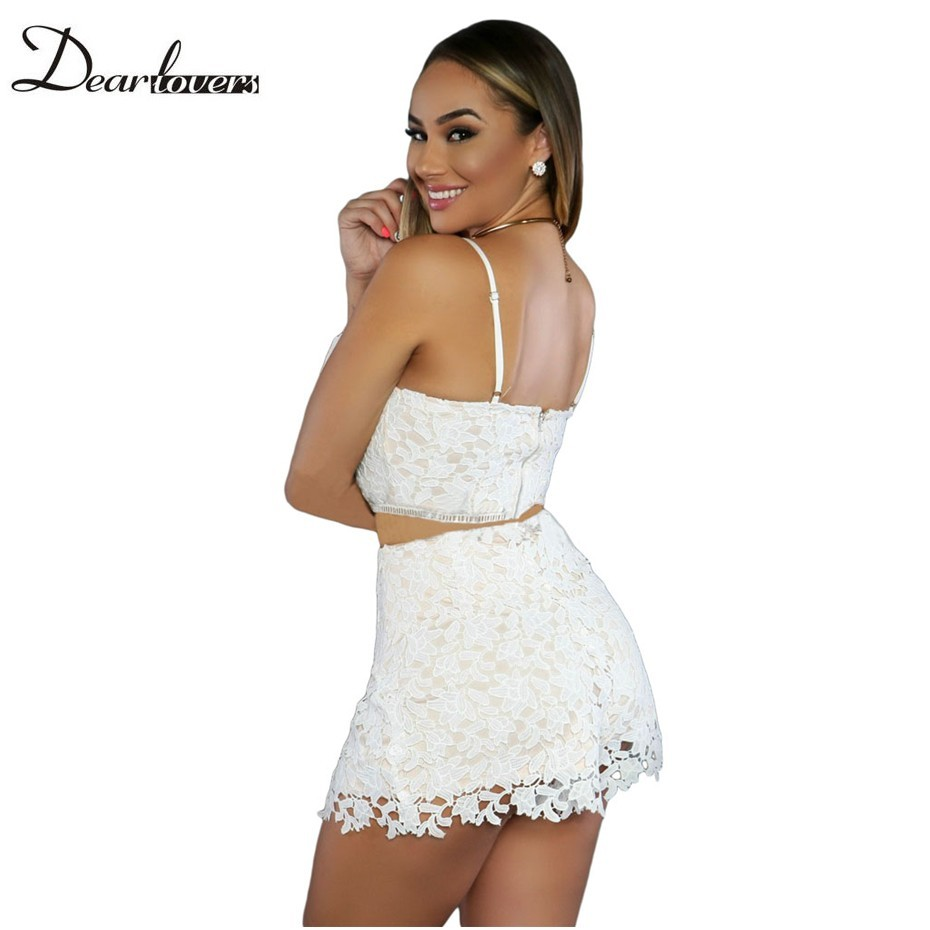 d1a1fa891 Dear lover Sexy Night Club Woman Clothing Set 2017 Summer Sleeveless Black  Caged Bandage Bodysuit with Sheer Mesh Skirt LC64013USD 22.41/piece