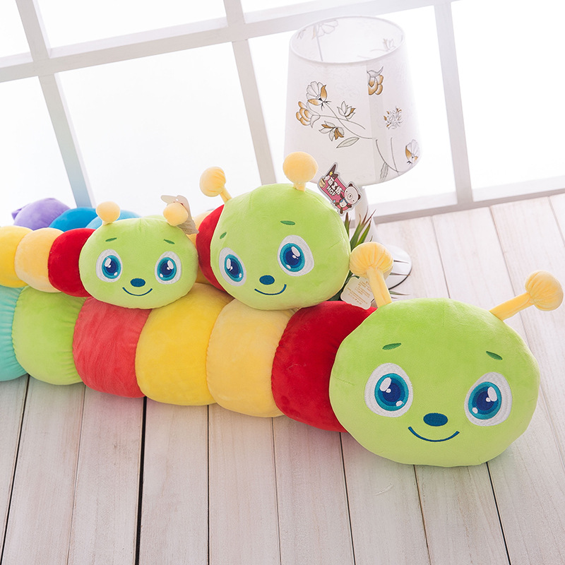 80CM Colorful Caterpillar Kids Plush Toy Cartoon Stuffed Toys Cute Animal Doll For Children   Birthday Gifts MR12 free shipping emulate tiger plush animal stuffed toy gift for friend kids children kids boys birthday party gifts zoo king