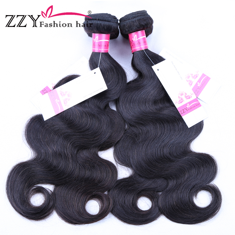 ZZY Fashion hair 4 pcs Body Wave Human Hair Peruvian Hair Weave Bundles Non Remy Hair