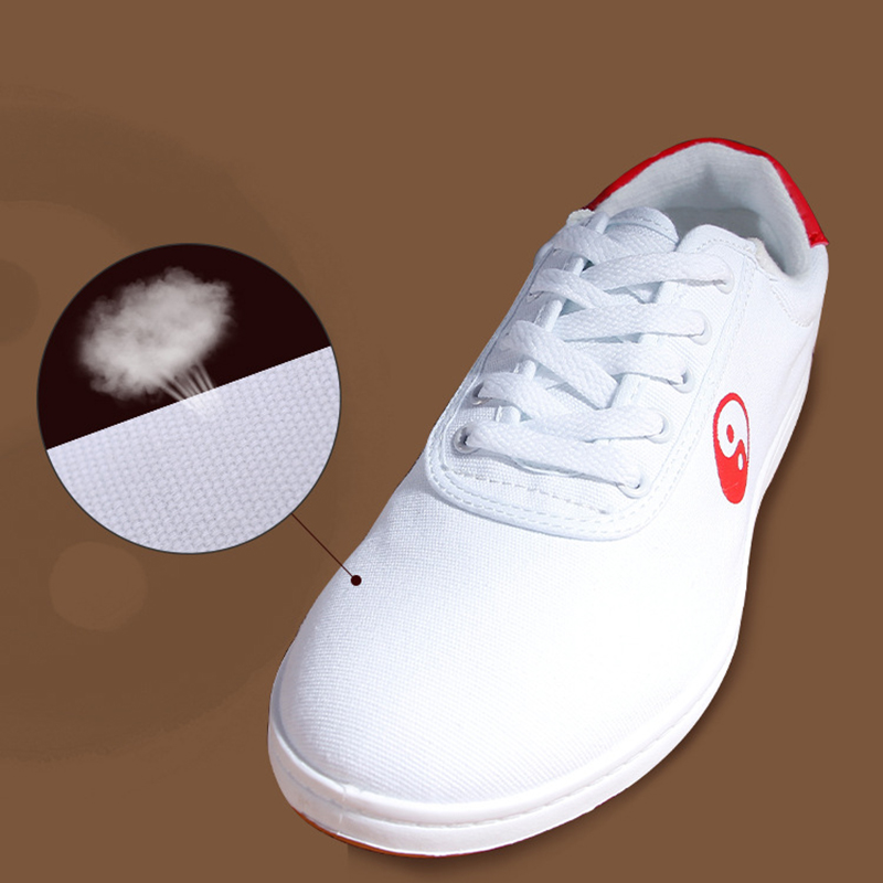 White Chinese Yin Yang Practice Shoes 4