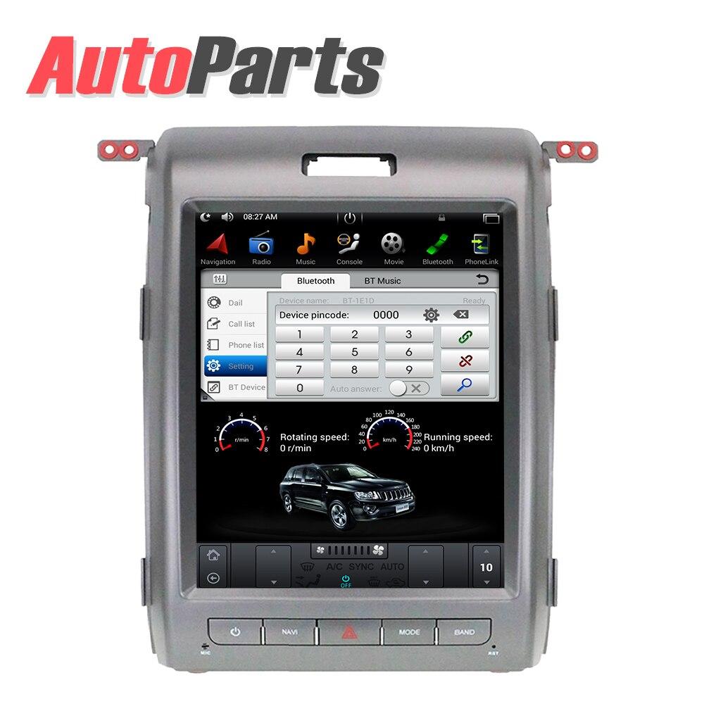 Android Tesla écran Vertical pour Ford F150 2009-2014 système audio de voiture radio multimédia gps navigation voiture dvd IPS AUX