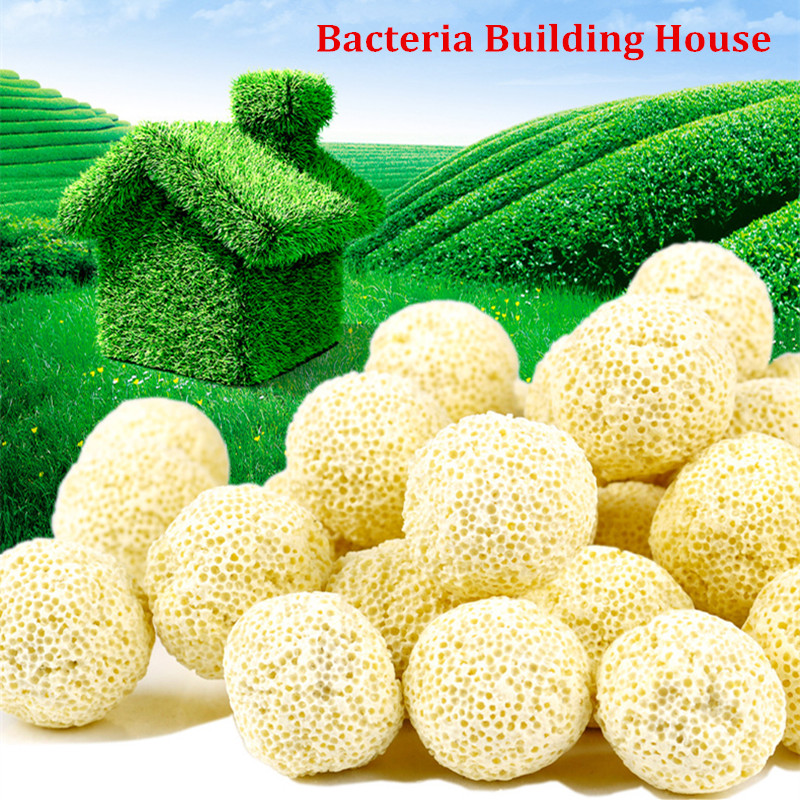 10pcs Ceramic Biochemical Ball Filter Media Nitrifying Bacteria House Aquarium Filter Accessories For Fish Tank Water Cleaning