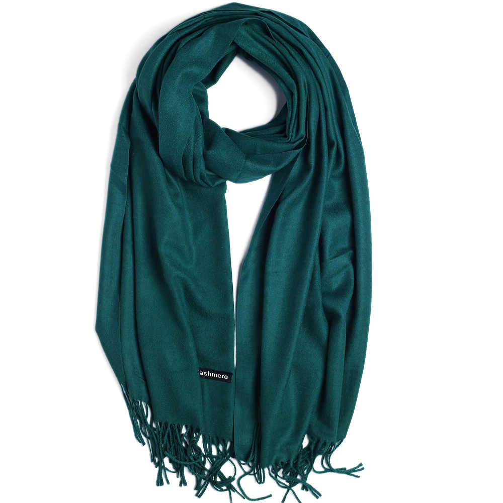 34c4b447d Fashion Cashmere Scarf Shawl Solid Autumn Winter Wrap Warm High Quality  Soft Hijab Thick Women Pashmina