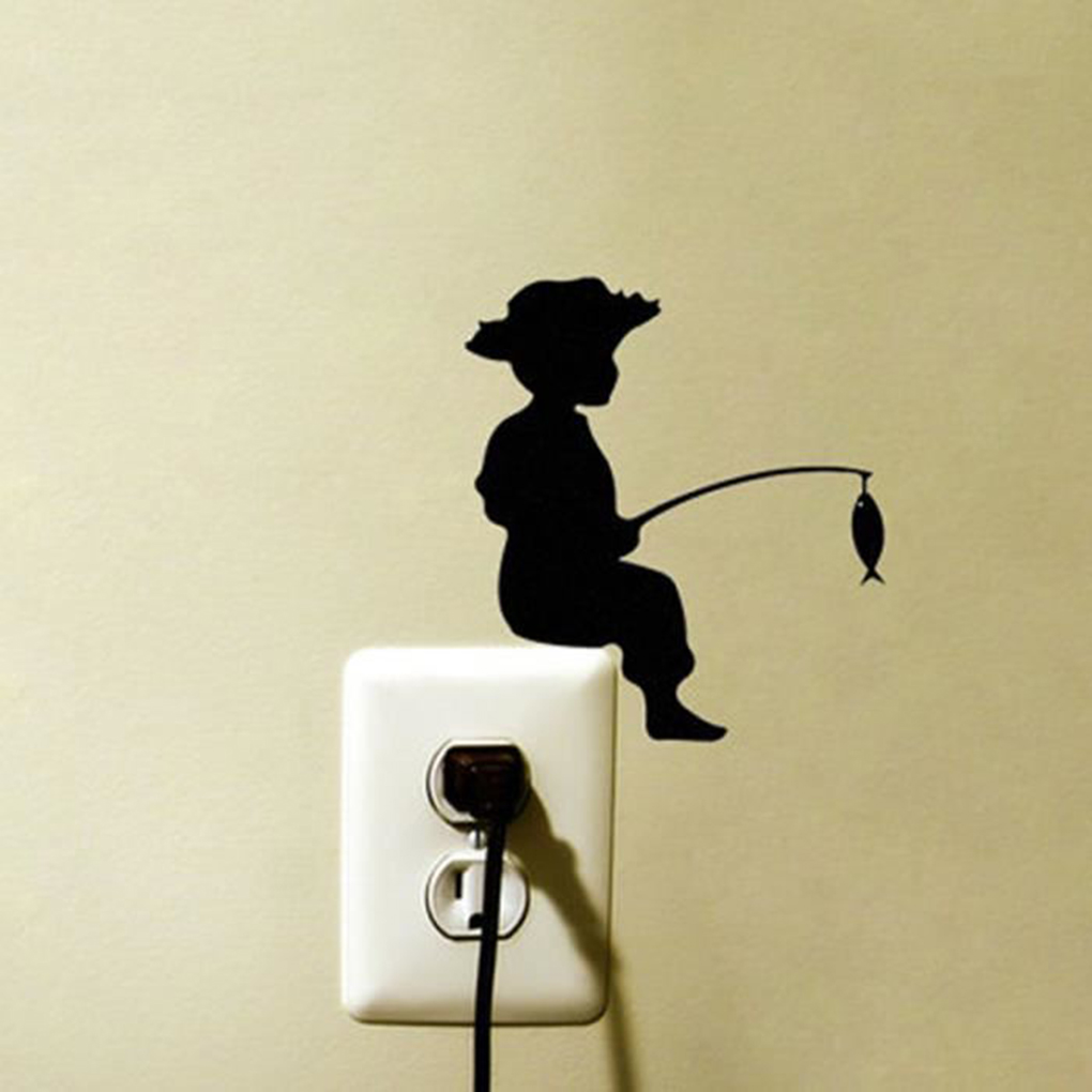 Popular Children Fishing Wall Stickers Poster Paster Decals ...