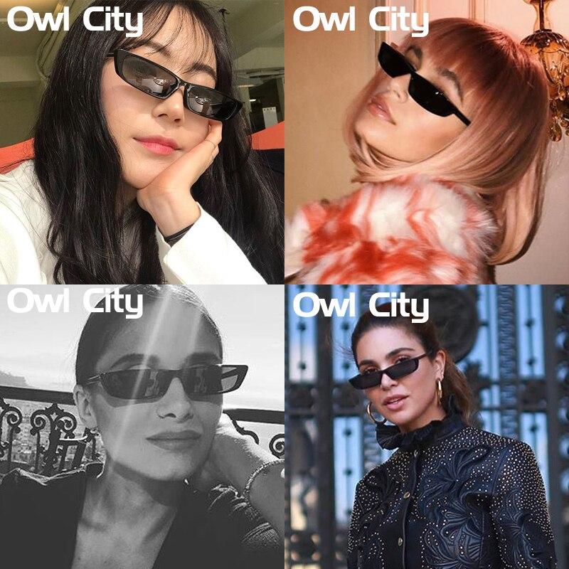 HTB1aKbsbQfb uJkHFCcq6xagFXaY - Vintage Rectangle Sunglasses Women Brand Designer Small Frame Sun Glasses Retro Black Eyewear